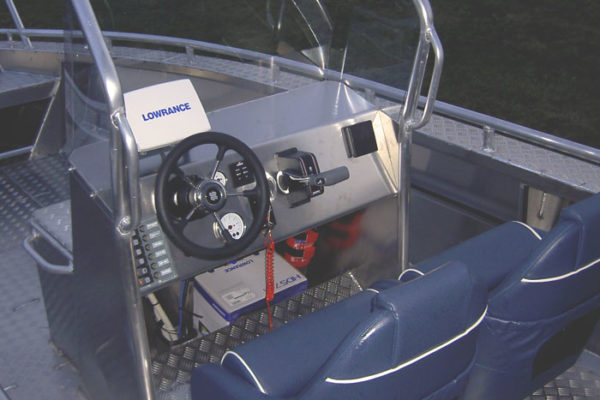 Aluminium consoleboot